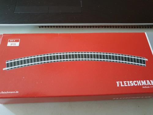 Vìa Curva Fleischmann Escala N 9135  R1  30 Grados C/balasto