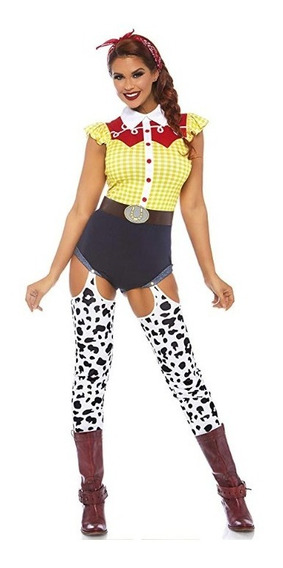 Disfraz Halloween Mujer Jessie La Vaquerita Toy Story Traje