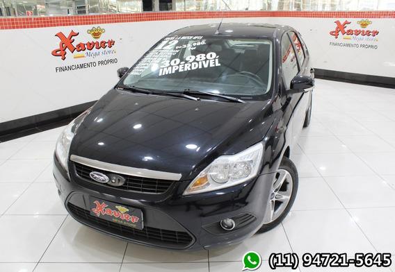 Ford Focus 1.6 Hc 2012 Preto Financiamento Próprio 9726