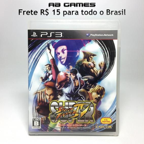 Super Street Fighter Iv Japonês Playstation 3 Ps3