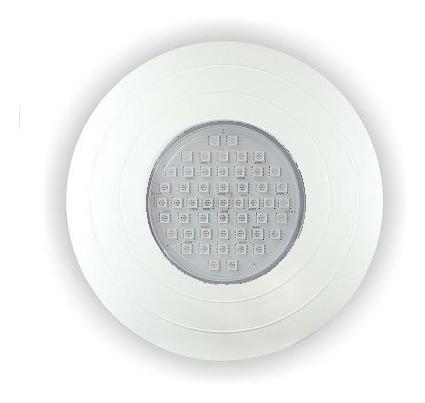 Refletor Power Led Luz Azul/branca Abs 9w Frente Grande 27cm