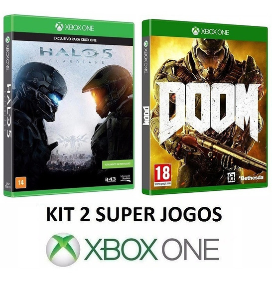 Doom + Halo 5 - 100% Em Portugues - Midia Fisica - Xbox One
