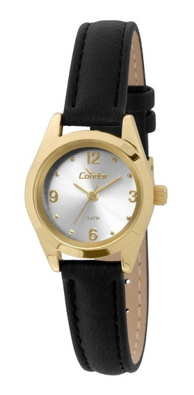 Relógio Condor Feminino Co2035kkz/2k Dourado Couro Preto