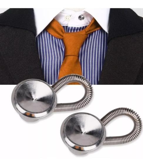 Botão Alargador Extensor Colarinho Camisa Em Aço Inoxidável