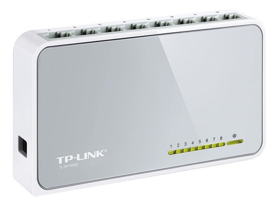 Switch Hub 8 Puertos Tp Link Tl Sf1008d Lan 10/100 Mbps Gtia