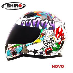 Capacete Shiro Sh881 Funny Branco