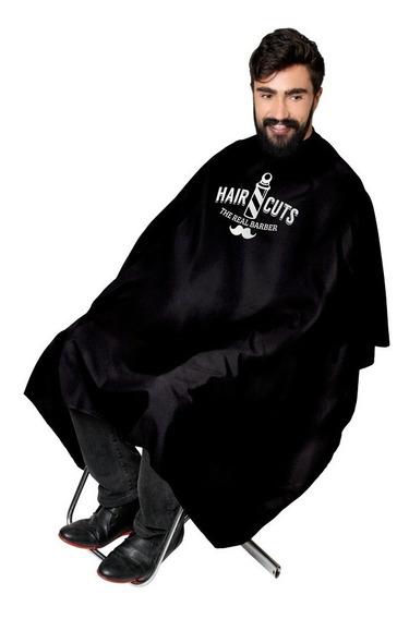 Kit 5 Capas De Corte Cabeleireiro Barbeiro Estampada Cetim