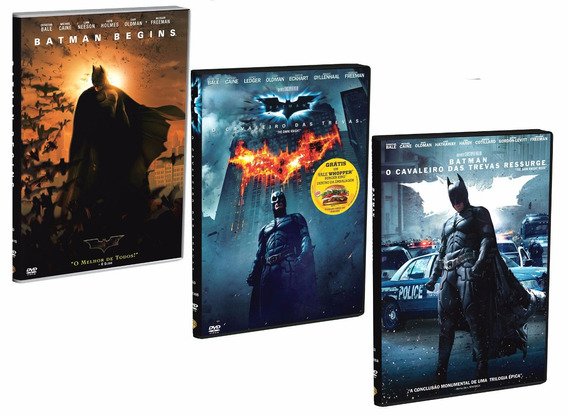 Dvds Trilogia Batman (3 Dvds Originais) #