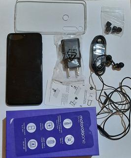 Celular Moto One Macro 64g4ram Pouco Tempo De Uso Acessórios