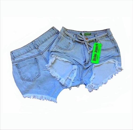 Shorts Feminino Jeans Basic Cintura Alta Divine Jeans