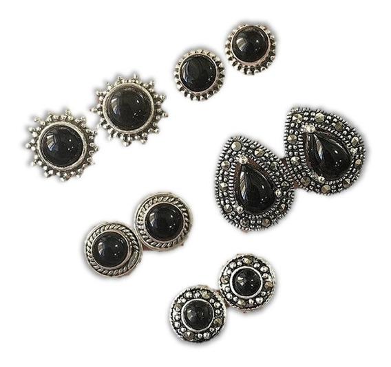 Set 5 Pares De Aretes De Fantasía, Vintage Black