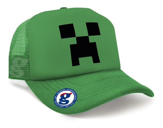 Gorras Trucker Visera Curva Minecraft Creeper Video Juego