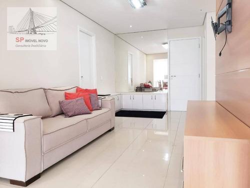 Apartamento Para Alugar, 49 M² Por R$ 3.370,00/mês - Brooklin - São Paulo/sp - Ap14285