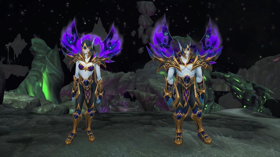 Elfo Caótico Raças Aliadas / Void Elf Allied Race Wow