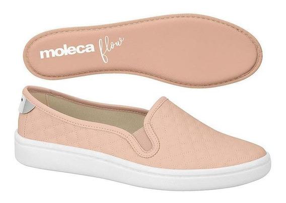 Tênis Feminino Casual Slip On Moleca 5657.200 - Rosa