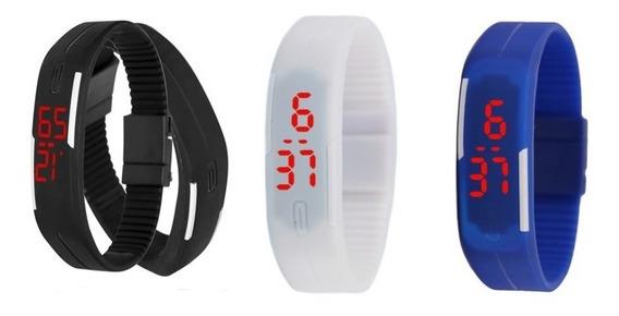 10 Reloj Negro Led Touch Mujer Hombre Digital Envío Gratis