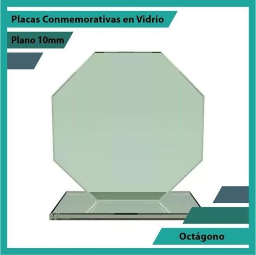Trofeos Placas De Reconocimiento Octagono Pulido Plano 10mm