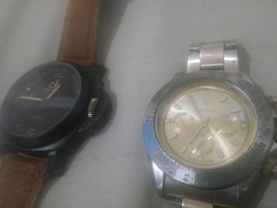 02 Relógios Réplicas Rolex + Calvin Klein