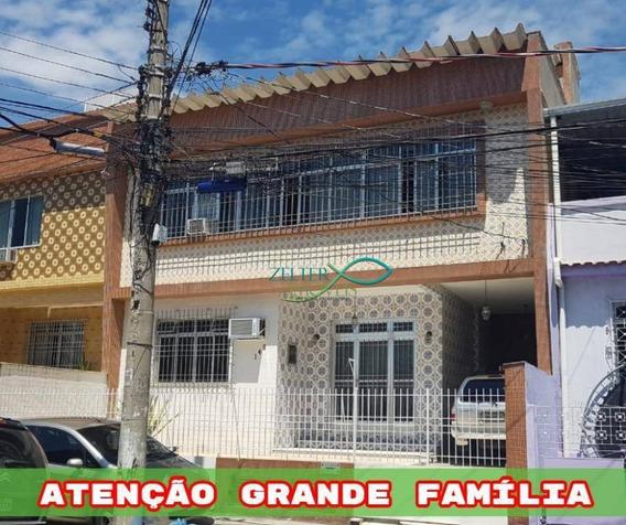 R$ 725 Mil - Excelente Casa Duplex Em Brás De Pina - 191 M² - De Frente - Sol Da Manhã - Quintal - Terraço - Comporta 2 Famílias - Ca0324