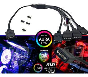 Hub Rgb Placa Mãe Aura Sync Gygabyte Fusion Asrock Msi Top