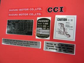 Kit De Adesivos Da Época (réplica) Suzuki T-500 68 A 75