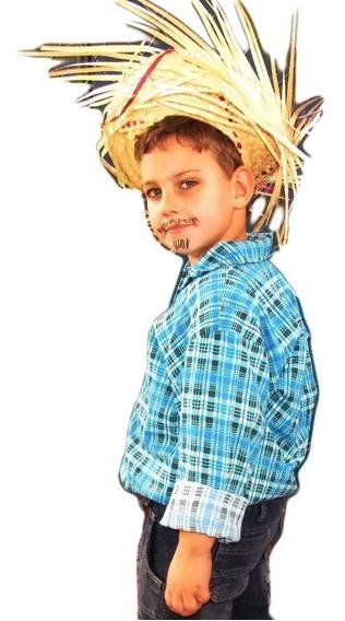 Camisa Infantil Xadrez Festa Country Caipira Festa Do Peão
