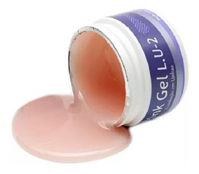 Gel Pink 33g Lu2 +prep+fibra+dappen+pinça