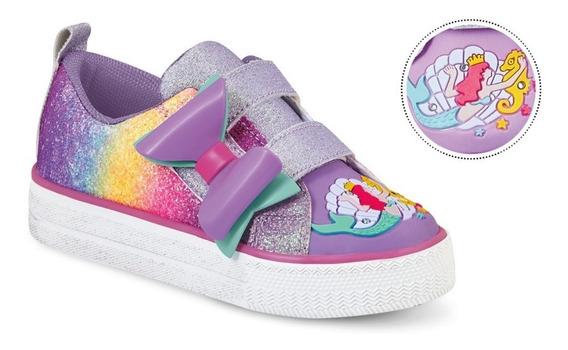Tenis Sneakers Infantil Niña Mujer Comodos Velcro Brillos