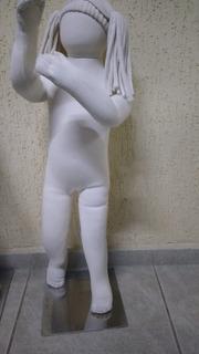 Manequim De Tecido Articulado Infantil (menina/menino)
