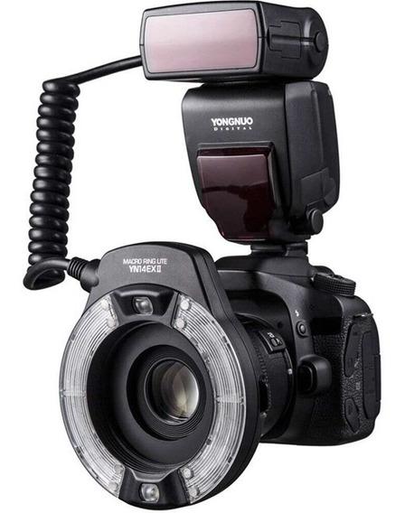 Flash Yongnuo Yn14ex Versão Ii - Macro Flash Para Canon