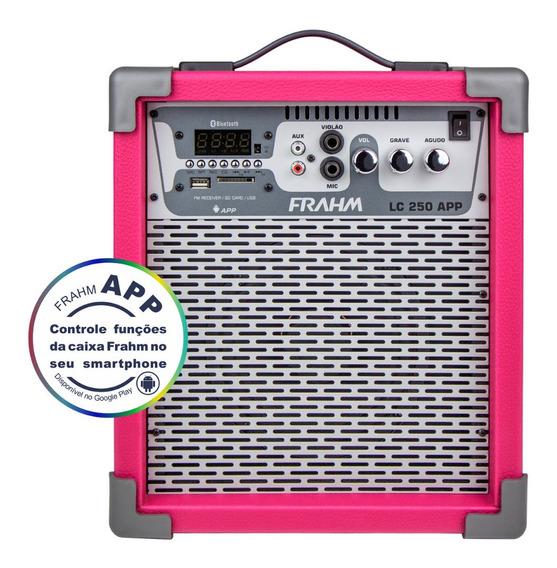 Caixa Som Amplificada Frahm Lc250 Bluetooth Usb Sd Fm Cores