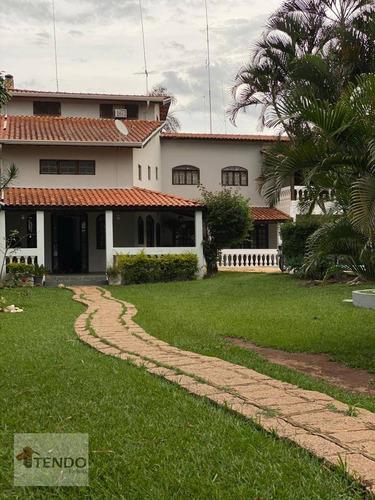 Chácara Com 5 Dormitórios À Venda, 1000 M² Por R$ 930.000 - Recanto Campestre Internacional De Viracopos Gleba 3 - Indaiatuba/sp - Ch0067