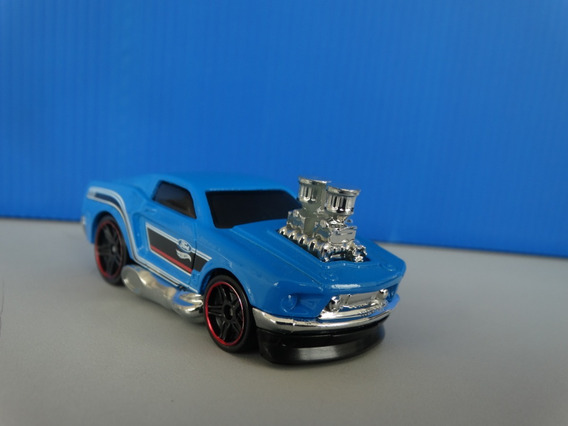 68 Mustang Tooned Azul Hot Wheels 2017 - 1:64 Loose