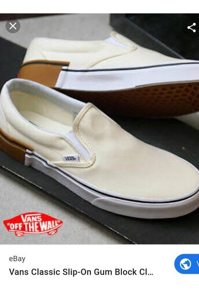 Tênis Vans Raro Gum Block Classic Slip-on Tamanho 43/11.5 Us