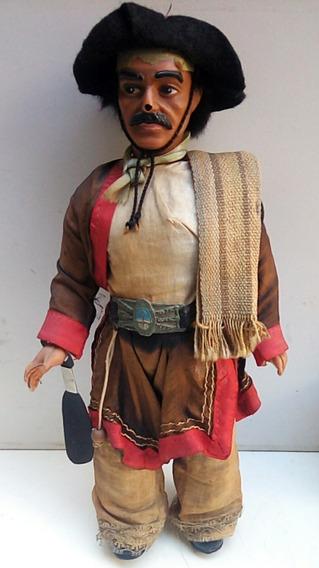 Antiguo Muñeco Gaucho Vestimenta Tipica