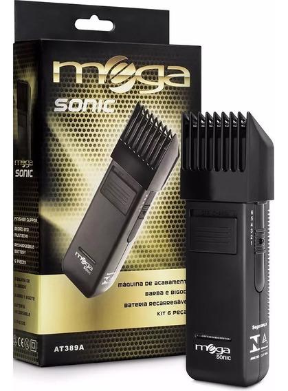 Máquina De Acabamento Barba Cabelo E Bigode At389 Mega Sonic