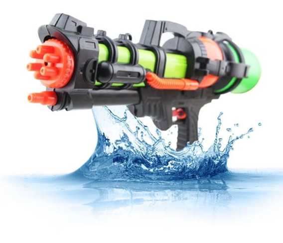 Arminha Pistola Lança Agua Shotgun Piscina Tanque