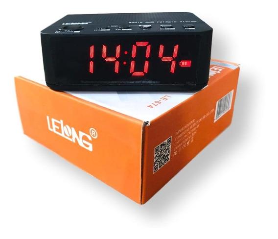 Rádio Relógio Digital Despertador Bluetooth Bateria Le - 674