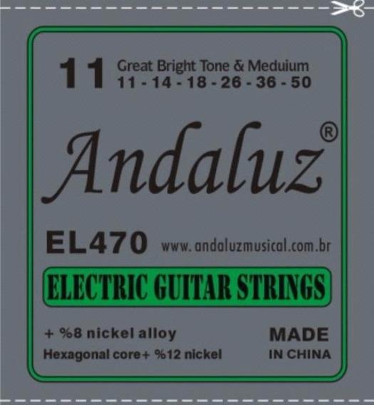Encordoamento 0.11 P/guitarra Cordas Andaluz (nig,sg,solez)
