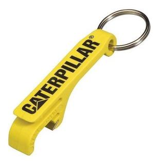 Llavero Caterpillar ® Amarillo Con Destapador De Corcholatas