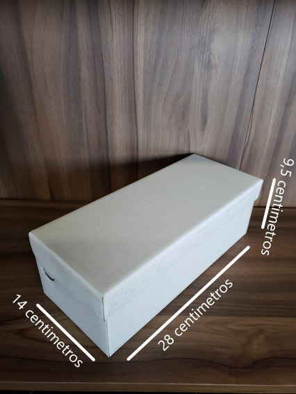 Caixa De Sapato Branca Lisa Medida 28 X 14 X 9,5 Kit Com 100