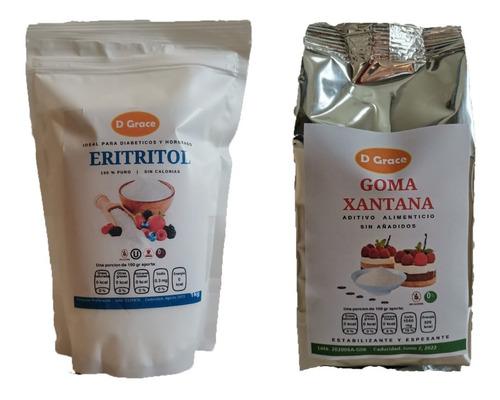 Imagen 1 de 4 de Eritritol + Goma Xantana Keto Sin Gluten 1 Kg C/u