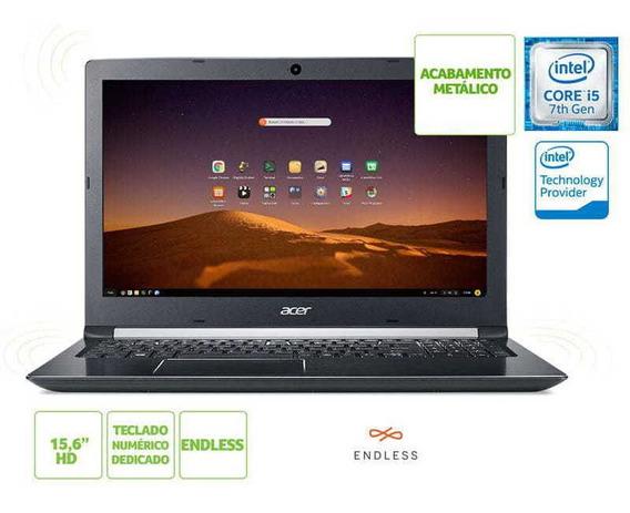 Notebook Acer Com Teclado Numerico A515-51 I5 7200u 4gb 1tb Linux 15.6 Hd Cinza Preto / Nfe