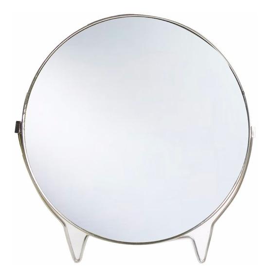 Espelho Dupla Face Suporte Aço Inox L/normal 3x