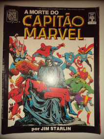 Graphic Novel 3 A Morte Do Capitao Marvel Editora Abril 1986