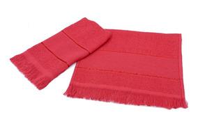 800 Toalhas Vermelhas;toalhinhas De Mão Com Área Para Bordar