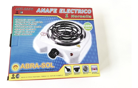 Anafe 1 Hornalla Electrico Abrasol