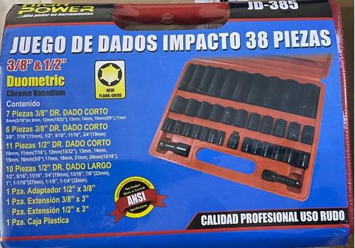 Dados Tool Alto Impacto C/estuche De 38 Pzs. Std. Y Mm