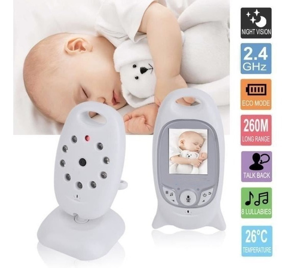 Babá Eletrônica Baby Portátil Vídeo Monitor Digital Bebê 50m