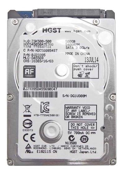 Hd Notebook Hitachi Hgst 500gb Slim Sata 6.0 Gb/s